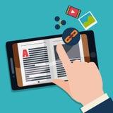 EBook-Design Lizenzfreie Stockfotografie