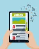 EBook design Arkivfoto