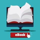 EBook design Arkivbilder