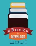 EBook design Royaltyfria Bilder