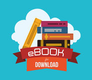Ebook design. Ebook with cloud design, vector illustration 10 eps graphic stock illustration