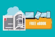 Ebook design Royalty Free Stock Image