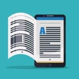 Ebook design. Royalty Free Stock Image