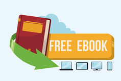 Ebook design. Royalty Free Stock Images
