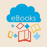 EBook design Stock Image