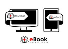 EBook design Royalty Free Stock Photos