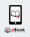 EBook design. Over white background, vector illustration royalty free illustration