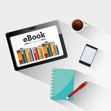 Ebook design. Ebook design over white background, vector illustration royalty free illustration