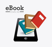 Ebook design. Ebook design over white background, vector illustration stock illustration