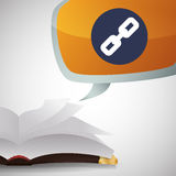 EBook  design. reading icon. White background Royalty Free Stock Image