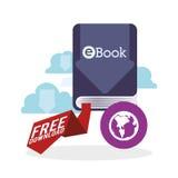 EBook  design. reading icon. White background Royalty Free Stock Photos