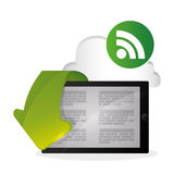 EBook  design. reading icon. White background Royalty Free Stock Photo