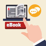 EBook  design. reading icon. White background , vector illustration , vector Stock Images