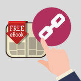 EBook  design. reading icon. White background , vector illustration , vector Royalty Free Stock Image
