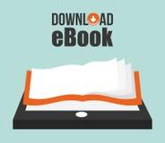 EBook design, vector illustration. Stock Photos