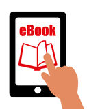 EBook design, vector illustration. Stock Photography