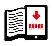 EBook design, vector illustration. Stock Photos