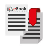 EBook design, vector illustration. Royalty Free Stock Image