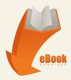 EBook design, vector illustration. Stock Image