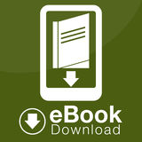 EBook Download Icon. An image of an eBook download icon stock illustration