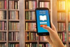 EBook e-Leert moderne elektronisch van het lezings digitale boek royalty-vrije stock fotografie