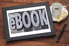 Ebook (elektronisches Buch) stockbild