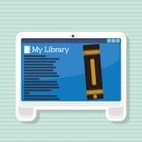 Ebook icon design. Ebook concept with book icon design, vector illustration 10 eps graphic Stock Photos