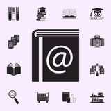 eBook icon. Library icons universal set for web and mobile royalty free illustration
