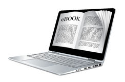 Ebook - laptop as electronic book Royalty Free Stock Images