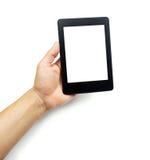 EBook-Leser oder Tabletten-PC in der Hand lizenzfreies stockfoto