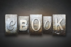 EBook Letterpress Royalty Free Stock Images