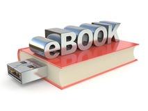 EBook metal red book. 3D Stock Image