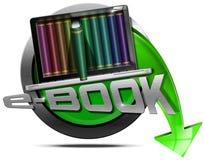EBook - metallisk symbol vektor illustrationer