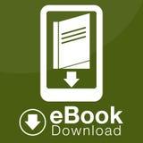 EBook nedladdningsymbol Royaltyfri Bild