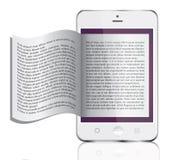 EBook op wit wordt geïsoleerd dat Stock Foto's