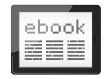 Ebook reader. In vector eps royalty free illustration