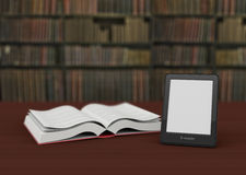 Ebook reader concept Stock Photo