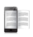 Ebook reader. smartphone illustration design Royalty Free Stock Photo