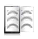 Ebook reader. tablet illustration design Royalty Free Stock Photos
