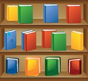Ebook store. With books in different colors vector illustration
