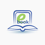 Ebook stylized vector symbol Royalty Free Stock Images