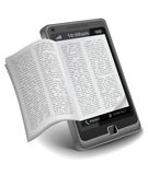 Ebook sur Smartphone Images libres de droits