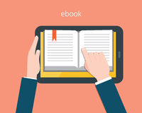 Ebook and tablet concept flat  illustration Royalty Free Stock Photography
