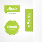 EBook Tabs and Stickers. Vector eBook tabs and stickers for online and print advertising vector illustration