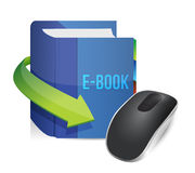 Ebook technology illustration design Royalty Free Stock Photography