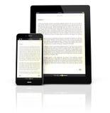 Ebookapparaten royalty-vrije illustratie
