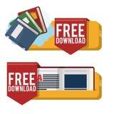 EBookontwerp Royalty-vrije Stock Afbeeldingen