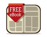 EBookontwerp Royalty-vrije Stock Foto