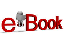 Ebookword toont Elektronische Bibliotheek Royalty-vrije Stock Foto's