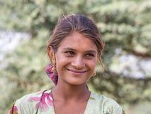 Żebrak indyjska dziewczyna w Pushkar, India Obraz Royalty Free